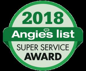 Angie's List Super Service Award Winner 2018