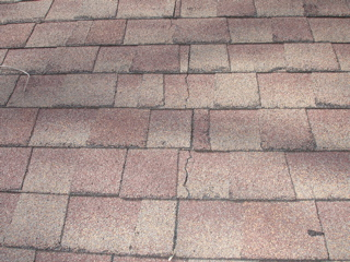 Broken Roofing Shingles