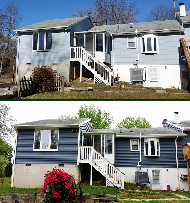 Vinyl Siding Before After MD