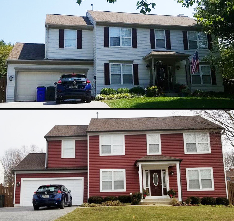 Vinyl Siding Before and After in MD